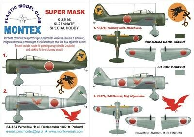 Montex Mini Mask 1:72 Sea Hawk for Special Hobby Kit Spraying Stencil #SM72121