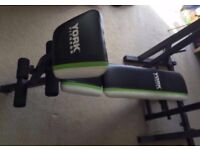 Adjustable Weight Bench + Curl Attachment + Weights (20kg total) + Barbell & Dumbbells