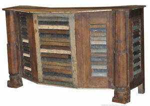 Vintage Antique Bar Counter in Reclaimed Wood on SALE