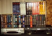 Séries de films d'action en format VHS movies