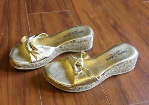 Gold Italian Designer Sandals