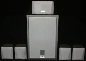 JVC Surround Sound Speakers with Powered Sub Woofer