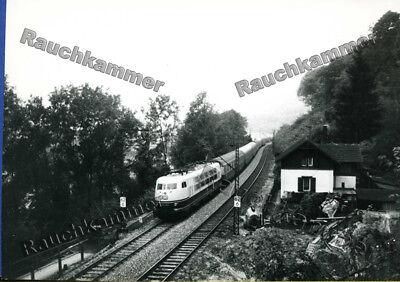altes Baryt-Foto DB 103 238-2 Geislinger Steige 1978 - ca 9x14