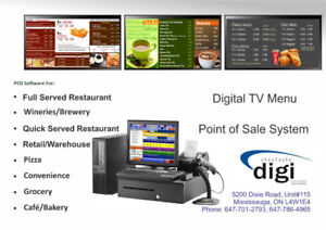 POS System for Restaurant, Pizza  or Convenience Store / TV Menu