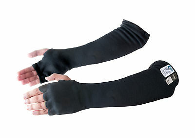 Kevlar® Cut & Heat Resistant Designer Arm Sleeves with Finger Openings - Black 1