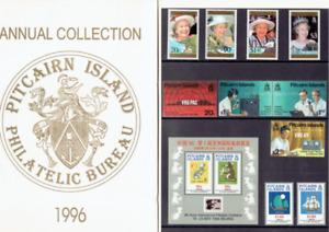PITCAIRN  ISLAND  ANNUAL  COLLECTION  1996.