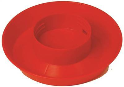 Little Giant 740 Screw-on Jar Waterer Base 6 In Diameter 1.5in Height Red