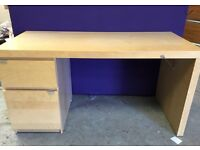 Office desk table with 1 drawer and 1 cabinet