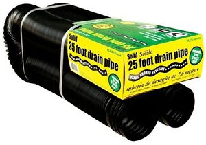 FLEX-Drain 4-in 25-ft Corrugated Perforated Pipe Flexible Drain Plastic Durable