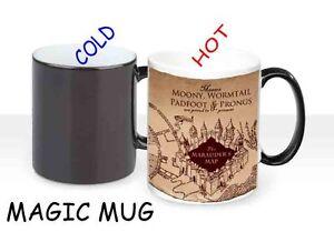 HEAT COLOUR CHANGING MAGIC MUG / CUP - HARRY POTTER MARAUDERS MAP