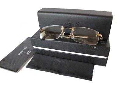 New Montblanc MB0349 56mm Eyeglasses frame gold