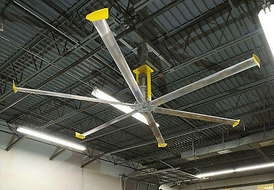 14 Ft Ceiling Fan - 115 Volts - Pre Wired - Adjustable Speed - Warehouse - Shop