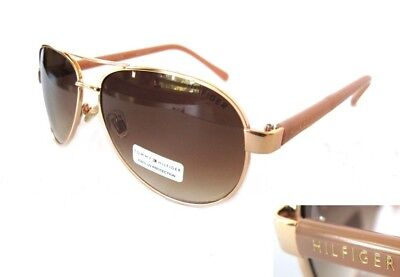 NWT TOMMY HILFIGER Sami Womens Sunglasses Gold/Brown (Womens Tommy Hilfiger Sonnenbrille)
