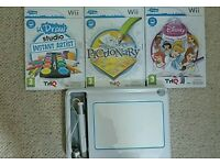 I draw Wii game tablet & 3 games instant art, Disney enchanting story books, pictionary.