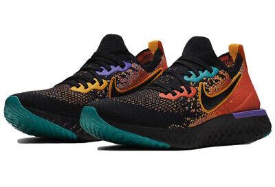 Nike Epic React Flyknit 2 'Black Ember Glow' Shoes Size W 11 M 9.5 CK0818-001