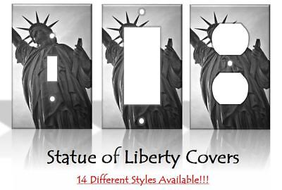 Statue of Liberty New York NYC New Jersey Light Switch Covers Home Decor Outlet