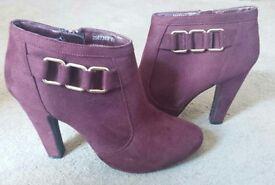 Purple/maroon ankle boots