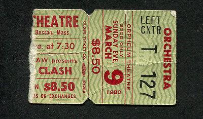 Original 1980 The Clash Concert Ticket Stub Boston MA London Calling