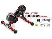 Used Once - Elite Turbo Muin Smart B + – Training Roller + Cassette + ANT USB Bluetooth Adapter