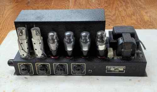ANTIQUE 1930s TUBE SOUND AMPLIFIER VINTAGE