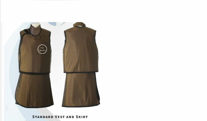 OVERLAP-VEST-SKIRT-LIGHT-WT-XRAY-LEAD-FREE-RADIATION-PROTECTION-APRON-W-THYROID
