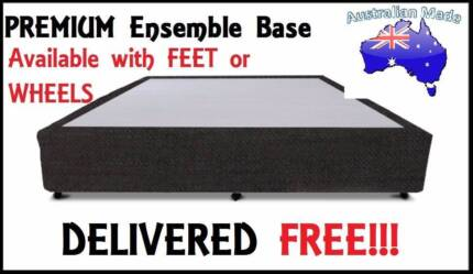 DELIVERED FREE Queen Size PREMIUM UPHOLSTERED Ensemble Bed Base
