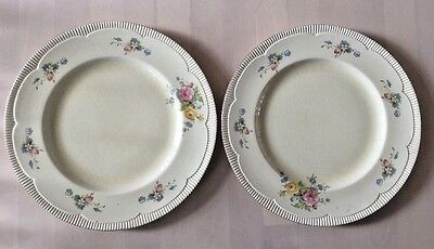 Clarice Cliff Plates-NEWPORT POTTERY ENGLAND X 2 DINNER COLLECTORS PLATES