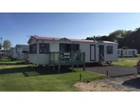 Static caravan at WigBay holiday park Stranraer