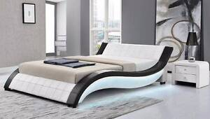 Brand New Luxury  Pu Leather King  bed Italian Design .Full Black Seven Hills Blacktown Area Preview