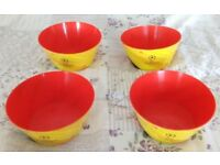 4 x Walkers snack bowls