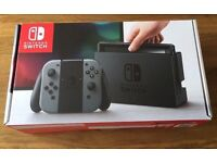 Nintendo Switch Console (Grey/Black) - Excellent Condition - Sold Out Everywhere! Video Game Console