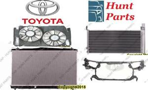 Toyota Sienna 2004 2005 2006 2007 2008 2009 2010 Radiator Support Cooling Fan AC Compressor Condenser Rad