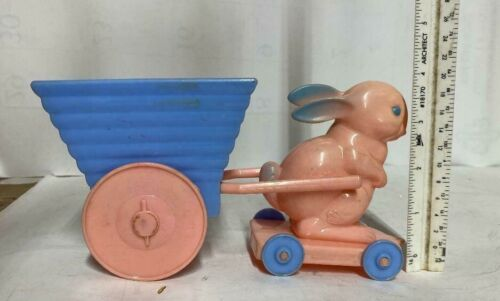 Vintage Knickerbocker Easter Bunny with Cart