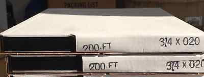 2-rolls-34 X.020 X 200 Mini Coils Steel Strapping 400