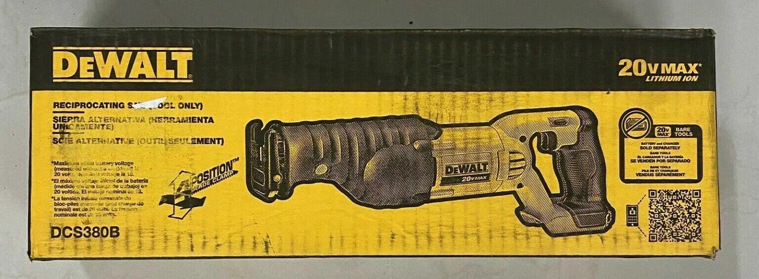 NEW DeWalt 20V MAX Li-Ion Reciprocating Saw  DCS380B   QIK S