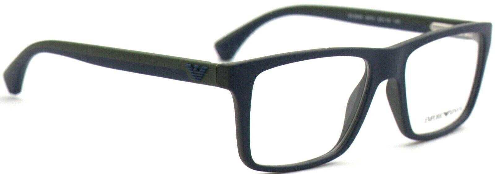 Emporio Armani Herren Brillenfassung EA3034 5615 53mm blau matt Vollrand 315 10