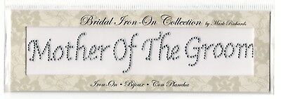 Mother of the Groom Iron On Bridal Collection by Mark Richards Bling New