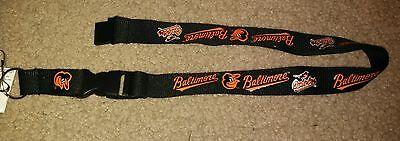 MLB Baltimore Orioles Black  Breakaway Lanyard Keychain NWT Free Shipping
