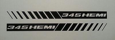 345 HEMI STROBE STRIPES ** HOOD DECALS ** MOPAR * DODGE RAM 5.7 CHARGER SRT8