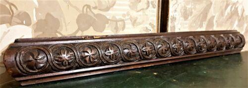 Rosette entrelas wood carving pediment Antique french architectural salvage