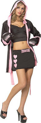 SECRET WISHES BOXER BABE MEDIUM HALLOWEEN COSTUME (Female Boxer Halloween Costume)