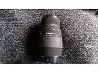 Sigma 70-300 DG Macro lens for Canon.