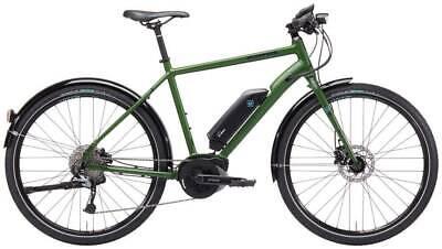 Kona Dew E Matt Eco Green Electric Bike 52cm Frame Hybrid Urban Unisex E Bike
