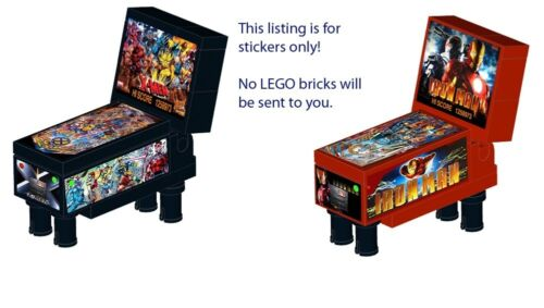 Pinball Instructions Vending Machine for LEGO 10224 10218 X-Men Iron ...