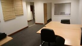 Furnished office £400, parking, buildings insurance, business rates, service charge, wifi included