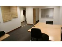 Large furnished office space, with free parking, kitchen and internet, in Bury, just off M66 £400pcm