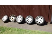 """Set of 5 Mercedes Alloy Wheels with Tyres 15"""""""