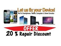 20% Repair Discount ,Mobile Phone , iPhone ,Samsung & Unlocking Mobile phones, Computer &Tablets