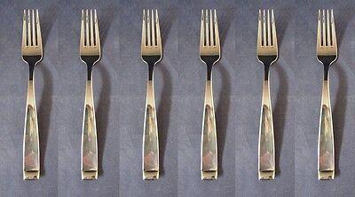 SET OF SIX - Oneida Stainless FORTE European Dinner Forks USA *