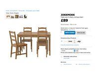 Ikea dining table and chairs JOKKMOKK